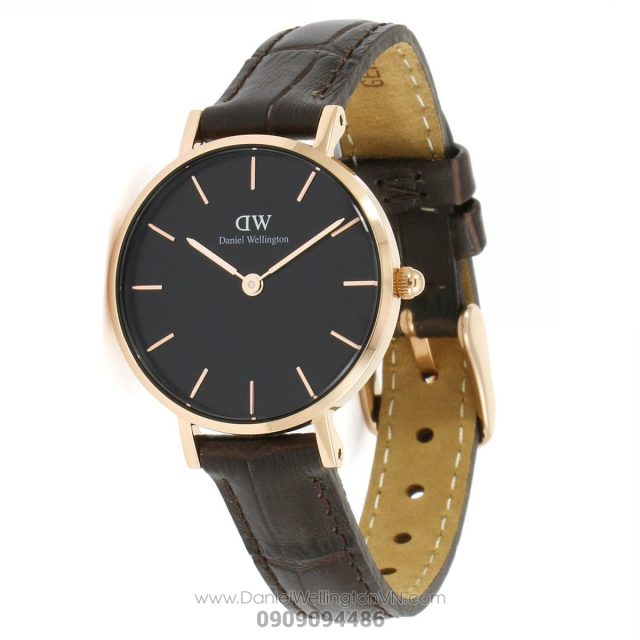 Classic Petite York 28mm Black Rose Gold DW00100226