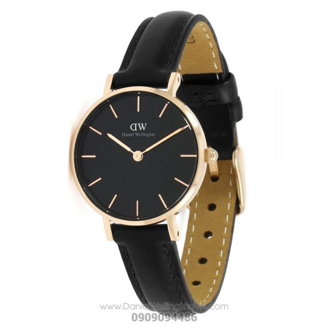 Classic Petite Sheffield 28mm Black Rose Gold DW00100224